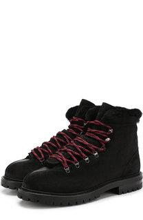 Кожаные ботинки Valentino Garavani Trekking на шнуровке Valentino