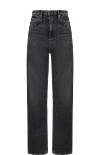 Расклешенные джинсы с потертостями Denim X Alexander Wang