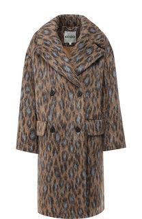 Двубортное пальто с отложным воротником Kenzo