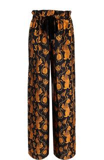 Шелковые брюки с принтом Mother Of Pearl