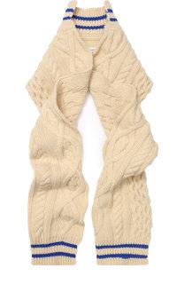 Шерстяной шарф фактурной вязки Maison Margiela