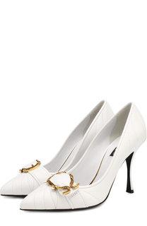 Кожаные туфли Lori на шпильке Dolce & Gabbana