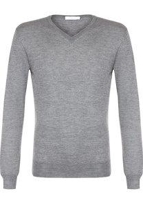 Однотонный пуловер из смеси кашемира с шелком Cruciani