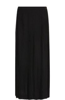 Плиссированная юбка-миди из шерсти Loro Piana