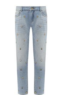 Укороченные джинсы с декоративной отделкой Escada Sport