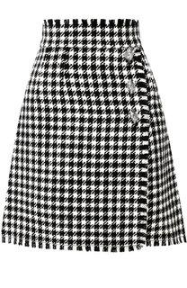 Шерстяная мини-юбка с бахромой Dolce & Gabbana