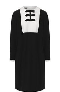 Мини-платье с контрастным воротником Escada