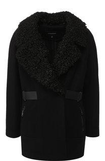 Укороченное пальто с отложным воротником Emporio Armani