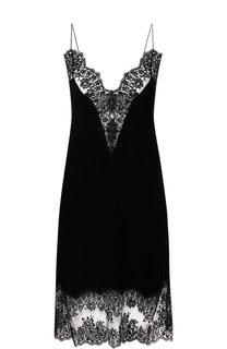 Бархатное платье с кружевной отделкой Stella McCartney