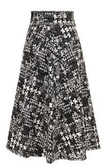 Вязаная юбка-миди с бахромой Dolce & Gabbana