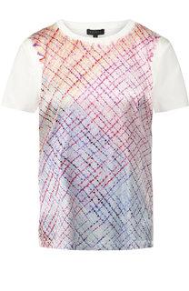 Хлопковая футболка с принтом Escada