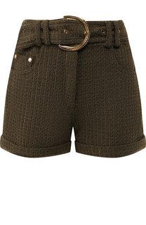 Вязаные шорты с поясом и отворотами Balmain