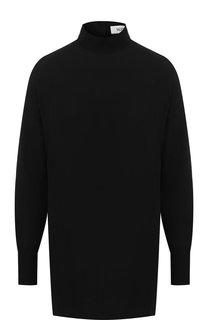 Шелковая блуза с воротником-стойкой Valentino