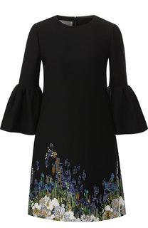 Мини-платье из смеси шерсти и шелка с пайетками Valentino