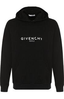 Хлопковое худи с принтом Givenchy