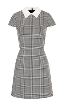 Приталенное мини-платье с отложным воротником Alice + Olivia