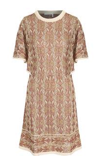 Вязаное мини-платье с круглым вырезом Chloé