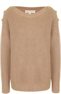Однотонный пуловер с контрастными пуговицами MICHAEL Michael Kors