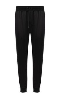 Шелковые брюки прямого кроя с манжетами Dolce & Gabbana