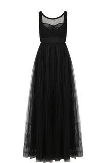 Приталенное платье-макси с объемной юбкой No. 21
