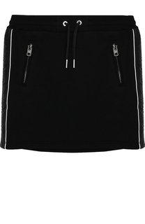 Хлопковая мини-юбка с поясом на кулиске Givenchy