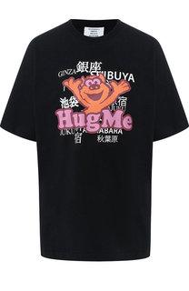 Хлопковая футболка с круглым вырезом и принтом Vetements
