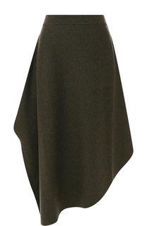 Шерстяная юбка-миди асимметричного кроя J.W. Anderson