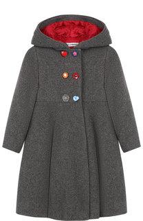 Двубортное пальто из шерсти с капюшоном Dolce & Gabbana