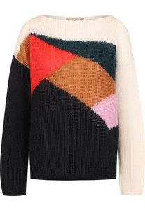 Вязаный пуловер свободного кроя с вырезом-лодочка Burberry