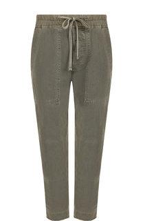 Укороченные хлопковые брюки с эластичным поясом James Perse
