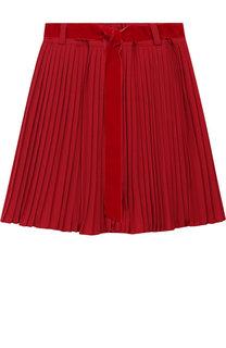 Плиссированная юбка с поясом Caf