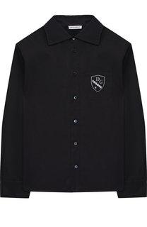 Хлопковая рубашка с нашивкой Dolce & Gabbana