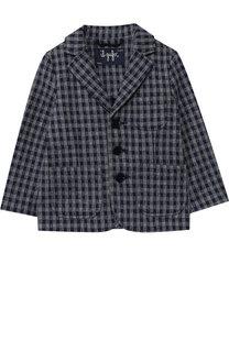 Хлопковый пиджак на трех пуговицах Il Gufo