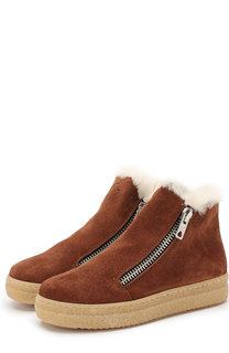 Замшевые ботинки с внутренней меховой отделкой Gallucci