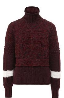 Шерстяной пуловер с высоким воротником Givenchy