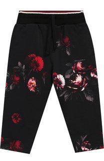 Хлопковые брюки с широким поясом Dolce & Gabbana