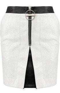 Кожаная мини-юбка на молнии Givenchy