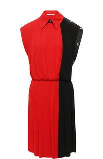 Приталенное мини-платье в складку Givenchy