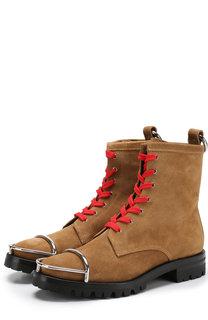 Замшевые ботинки с металлической отделкой Alexander Wang