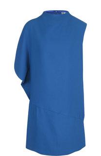 Однотонное мини-платье с воротником-стойкой Lanvin