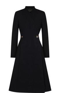 Однотонное шерстяное пальто Erika Cavallini