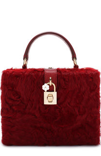 Сумка Dolce Box с меховой отделкой Dolce & Gabbana