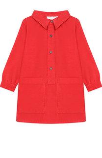 Вельветовое платье-рубашка Burberry