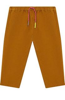 Вельветовые брюки с поясом на кулиске Burberry