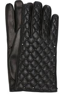 Кожаные перчатки Valentino Garavani Rockstud Spike Valentino