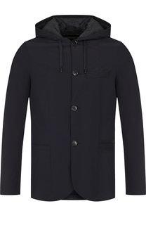 Куртка на пуговицах с капюшоном Emporio Armani