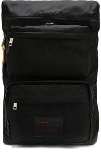 Текстильный рюкзак с внешними карманами Givenchy