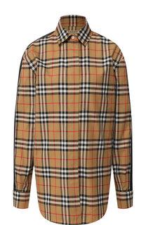 Хлопковая блуза в клетку Burberry