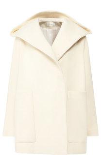 Пальто с капюшоном из смеси хлопка и шерсти The Row