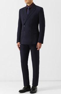 Шерстяной костюм с двубортным пиджаком Dolce & Gabbana